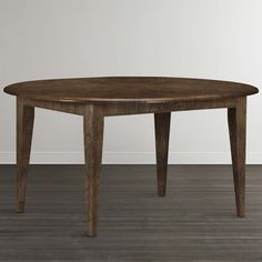 Buy Round Dining Table and Custom Round Tables with Leaf and Seating for 4 at…