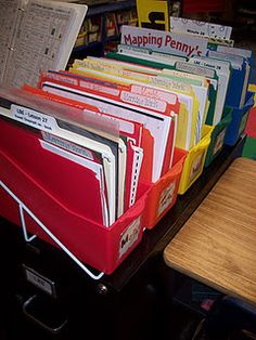 daily plans, with coordinated folders for subjects, big enough to hold books!