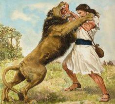 Sansão e leão. Juízes.