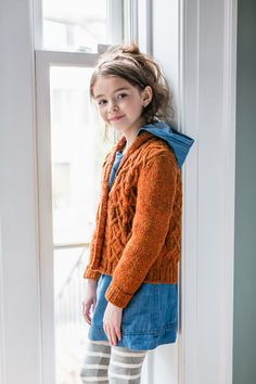 Arlo Cabled Cardigan with Shawl Collar from Brooklyn Tweed Kids