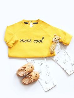 Le sweat Mini Cool – safran EMOI EMOI - Photo