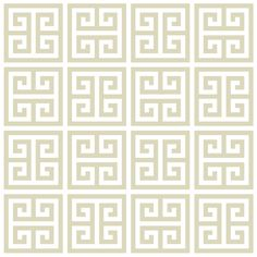 Jonathan Adler Greek Key Wallpaper in Wallpaper $250 (three rolls)
