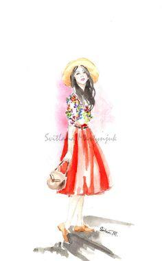 Summery Fashion Illustration by SvitlanaM on Etsy