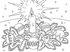 Christmas Decorations coloring page - Coloring Pages 4 U Free Christmas Coloring Pages, Fall Coloring Pages, Free Coloring Sheets, Printable Coloring Sheets, Adult Coloring Pages, Coloring Books, Advent Calendars For Kids, Kids Calendar, Christmas Colors