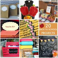 20 Back to School Projects! So many cute ideas! -- Tatertots and Jello