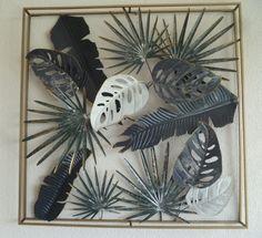 Muurdecoratie van metaal Frame Jungle - Muurdecoratie Bomen - WANDDECORATIE METAAL | DEKOGIFTS