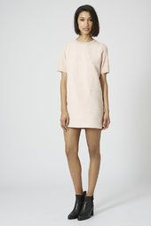 Suede Front Shift Dress