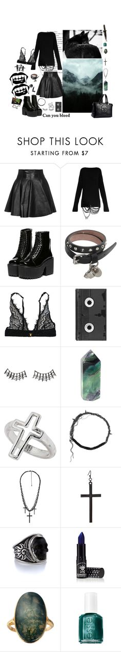 """""""can you bleed for me"""" by acidgirl ❤ liked on Polyvore featuring Plein Sud, Alexander McQueen, Mimi Holliday by Damaris, Luckies, Charlotte Russe, Miss Selfridge, Maison Michel, Alex and Chloe, ASOS and Manic Panic NYC"""