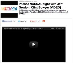 [VIDEO] Intense NASCAR Fight with Jeff Gordon, Clint Bowyer