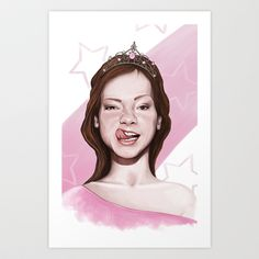 Maverick+Princess+Art+Print+by+Jordygraph+-+$15.60