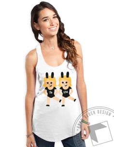 This Big & Little Emoji Tank is available on BlockBuy! Get it for you and your sister and be the cutest pair in the house. <3 Adam Block Design | Custom Greek Apparel & Sorority Clothes | www.adamblockdesign.com