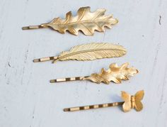 LEAF Collection Bobby Pin Set Woodland Wedding by redtruckdesigns, $39.85