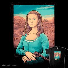 "Westworld T-Shirt by Wagner Nogueira aka Wagnogueira. ""The Mystery of Dolores' Smile"" is a parody of the Mona Lisa for Dolores Abernathy fans. Dolores Abernathy, Cool Shirts, Movies And Tv Shows, Pop Culture, Movie Tv, Mona Lisa, Mystery, Nerd, Cool Stuff"