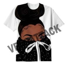 tbh black girl full print graphic shirt