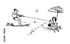 Caricatura de IULIAN PENA, publicata in almanahul PERPETUUM COMIC '97 editat de URZICA, revista de satira si umor din Romania