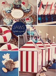 jaws birthday party | Jaws Themed Birthday Sneak Peek - Blog - Hello My Sweet
