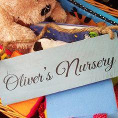 Personalised Wood Nursery Signs