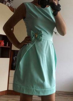 Kup mój przedmiot na #vintedpl http://www.vinted.pl/damska-odziez/krotkie-sukienki/9903590-pistacjowa-sukienka-idealna-na-wesele-m