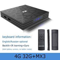 T9 TV BOX Android 8 1 Rockchip RK3328 4GB 64GB 1080P H 265