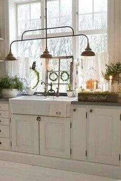 Farmhouse Kitchen Lighting on Pinterest