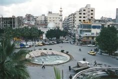 A fountain in the streets of downtown Latakia, Syria
