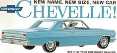 1964 Chevrolet Chevelle Malibu SS - mother had one with the white convertible top. Chevrolet Chevelle, 1964 Chevelle, Chevrolet Malibu, Vintage Advertisements, Vintage Ads, Convertible, Car Advertising, Us Cars, Muscle Cars