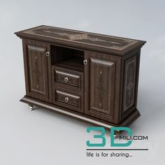 awesome 60. Sideboard & Chest of drawer 3D model Download here: http://3dmili.com/furniture/sideboard-chest-of-drawer/60-sideboard-chest-drawer-3d-model.html
