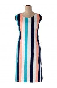 Rochie de zi cu imprimeu dungat R069i030