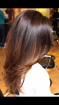 Sombré! Perfect brunette color on long hair