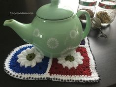 Flowery Heart - crochet - francenadeau.com