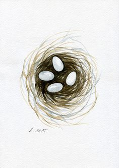 Bird, Robin, Nest, Illustration, Watercolor Original Painting Art, Quick sketch #IllustrationArt Natalia Komisarova   NatalieStorePainting     You can also find me on:    EBAY: http://www.ebay.com/usr/natalie_komisarova.art    ETSY: https://www.etsy.com/shop/NatalieStorePainting    FACEBOOK: https://www.facebook.com/komisarova.art    #NataliePaintings #Natalie #Artist #Illustration  #Bird