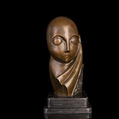 ATLIE BRONZES Nouveau art  handmade  abstract bronze statues cast polishing Mademoiselle Pogany bust sculpture #Affiliate