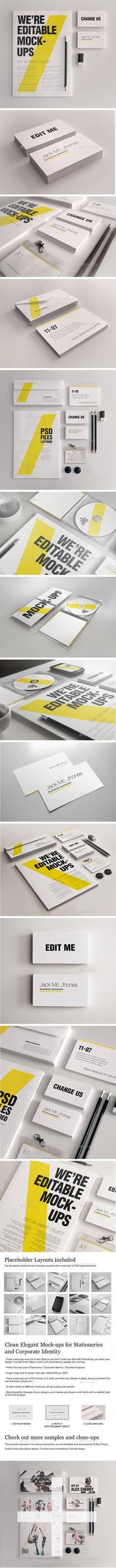 15 Elegant Realistic Stationery Mockups Bundle  Business Corporate ID — Photoshop PSD #presentation #business • Download ➝ https://graphicriver.net/item/15-elegant-realistic-stationery-mockups-bundle-business-corporate-id/18908225?ref=pxcr