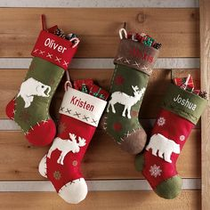 Rustic Hunting Stockings ~ Right up our alley since this is the theme of our family room.