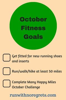 I'm sharing my 3 fitness goals for October to keep myself accountable! Health And Fitness Tips, Fitness Goals, Fitness Motivation, Race Training, Training Plan, Another Mother Runner, Injury Prevention, Positive Attitude, Regrets