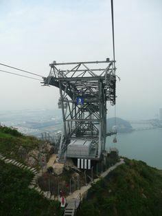 Pillar No. 3 can apparently serve as an emergency evacuation station. Sky Ride, Ski Lift, Hong Kong, Skiing, Steampunk, Travel, Ski, Viajes, Steam Punk