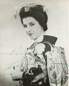 """Licia Albanese - Opera Singer. A lyrico spinto soprano who was possibly the last artist that could legitimately be called 'Prima Donna Assoluta', she shall beyond all doubt be remembered as the definitive exponent of the tragic Cio-Cio-San in Giacomo Puccini's """"Madame Butterfly"""".  Burial: Cemetery of the Holy Rood  Westbury Nassau County New York, USA"""