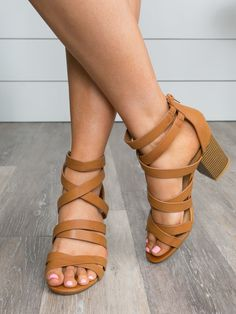 cd9139f0160 Color Block Chunky Heel Sandals Brown Color G87-1 in 2019