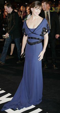 Jennifer Garner in a silver blue gown. What a Pi Phi gem!