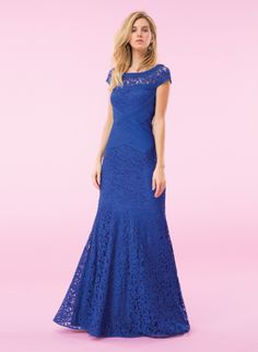 BE THE BUYER | Repin this dress if you'd like to see it offered in the Tadashi Shoji Spring Plus Size collection! ACZ1520L-MYSTIC BLUE