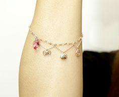 Kitizu Birthday 2013 Stuffed & bracelet | Goods | Hello Kitty 40th Anniversary Special Site Hello Kitty Jewelry, Cat Jewelry, 40th Anniversary, Sanrio, Delicate, Japan, Birthday, Bracelets, Charm Bracelets
