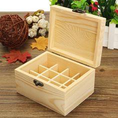 12 Holes Essential Oils Wooden Storage Box