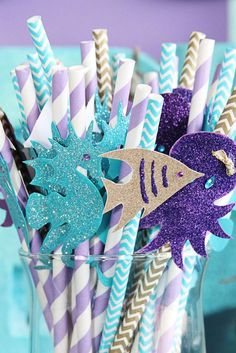 The Little Mermaid Birthday Party Ideas / Festa A Pequena Sereia Ariel Mermaid Theme Birthday, Little Mermaid Birthday, Little Mermaid Parties, Baby First Birthday, 4th Birthday Parties, Cake Birthday, Mermaid Party Decorations, Birthday Decorations, First Birthdays