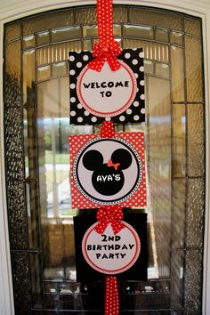 Minnie Mouse Welcome Sign for cruise door