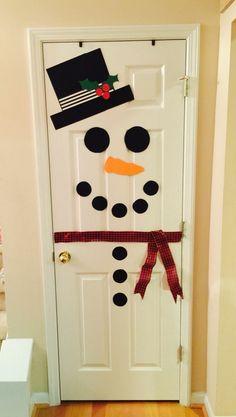 Snowman Door More Christmas Decorations Christmas Door Christmas Classroom Door, Christmas Snowman, Family Christmas, Simple Christmas, Snowman Door, Diy Snowman, Rustic Christmas, Beautiful Christmas, Snowmen