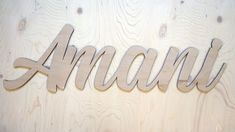 A sanded but unpainted unfinished sign. Cut with Baltic Birch Ply. Solo Mom, Birch Ply, Name Signs, Baltic Birch, Wood Signs, Crafty, Handmade, Life, Wooden Plaques