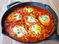 Recipe for Shakshuka, inspired by Dr. Shakshuka restaurant in Israel. Kosher, Vegetarian, Gluten Free, Healthy, Delicious.