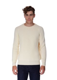 Maison Kitsuné - Fall Winter 2015 - Menswear // Beige knit in virgin wool