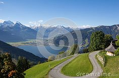 View From Mitterberg To Zell Am See Lake Zell & Kitzsteinhorn Stock Image - Image of colorful, kitzsteinhorn: 60257141 Zell Am See, Salzburg, Autumn Fall, Alps, My Images, Sunny Days, Austria, Golf Courses, Colorful