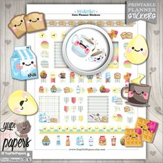 Breakfast Planner Stickers by www.YupiYeiPapers.etsy.com